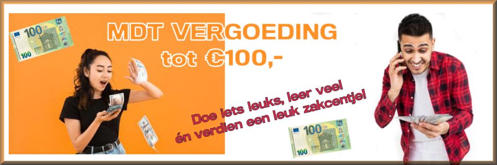 MDT stage vergoeding vrijwilligers vergoeding 100 euro verdienen